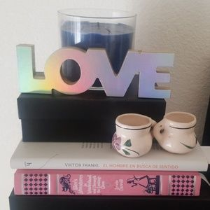 Other - Iridescent LOVE wooden sign